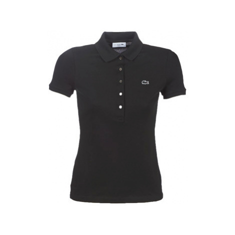 Lacoste PF7845 SLIM women's Polo shirt in Black