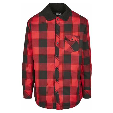 Urban Classics - Sherpa Lined Shirt Jacket - Jacket - red-black