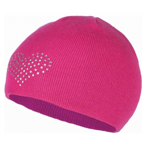 Lewro BEEDRIL pink - Girls' knitted hat