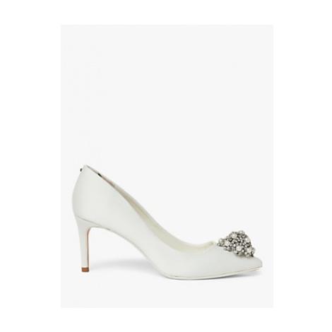 Ted Baker Darlils Brooch Detail Court Shoes, Ivory