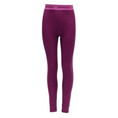 Devold DUO ACTIVE JUNIOR LONG JOHNS pink - Children's underpants