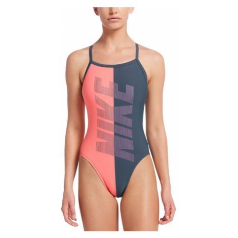 Nike RIFT RACERBACK grey - Women's one-piece swimsuit
