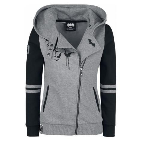Batman - Bat-Logo - Girls hooded zip - mixed grey-black