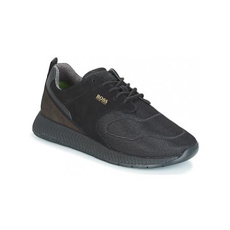 BOSS TITANIUM RUNN men's Shoes (Trainers) in Black Hugo Boss