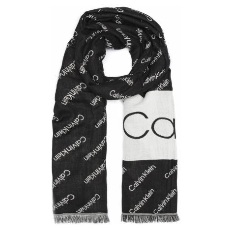 Calvin Klein Scarf Black White