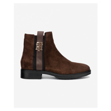 Tommy Hilfiger Interlock Suede Ankle boots Brown