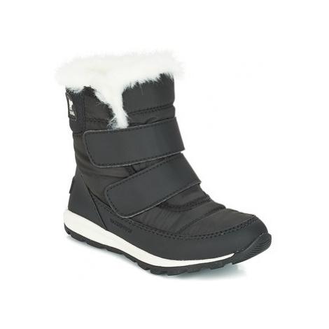 Sorel CHILDRENS WHITNEY VELCRO girls's Children's Snow boots in Black
