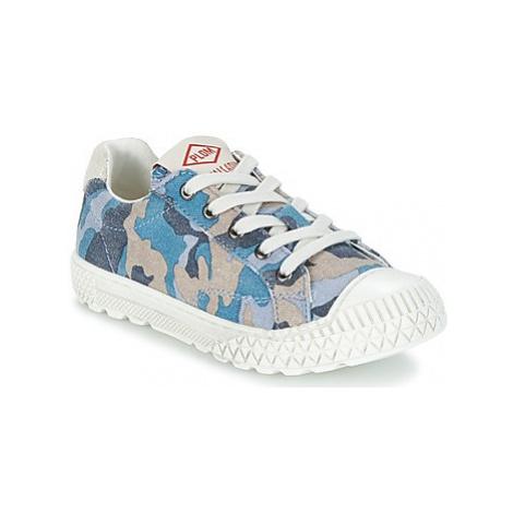 PLDM by Palladium TUDY PRINT boys's Children's Shoes (Trainers) in Blue