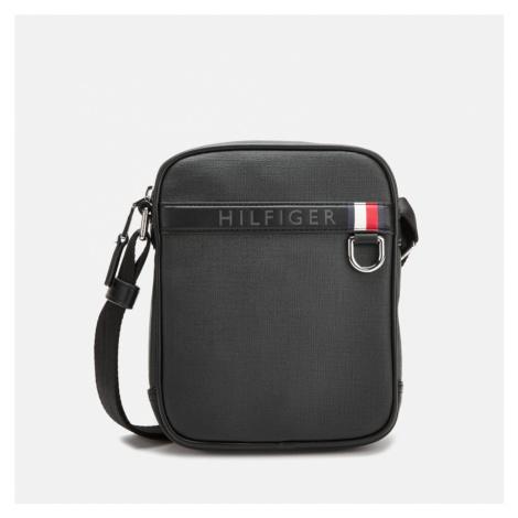 Tommy Hilfiger Men's Coated Canvas Mini Reporter Bag - Black