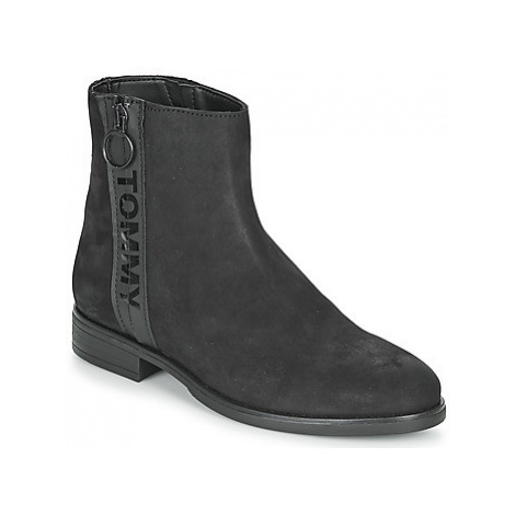 Tommy Jeans TOMMY JEANS ZIP FLAT BOOT women's Mid Boots in Black Tommy Hilfiger