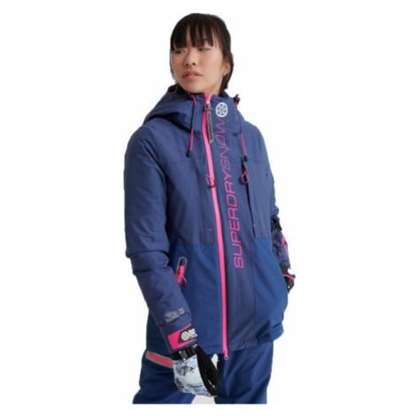 Superdry SLALOM SLICE SKI JACKET dark blue - Women's ski jacket