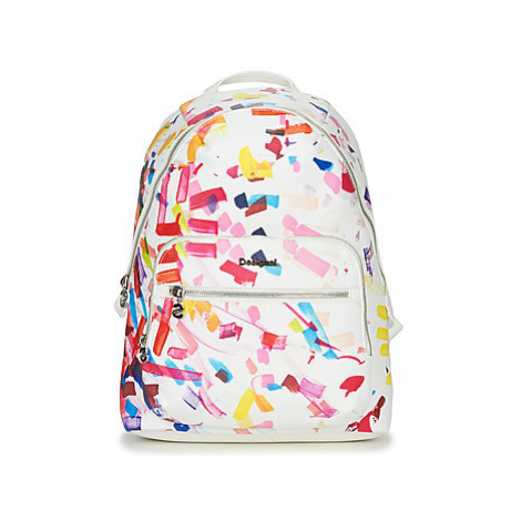 Desigual REP. WHITE CONFETTI LIMA women's Backpack in White