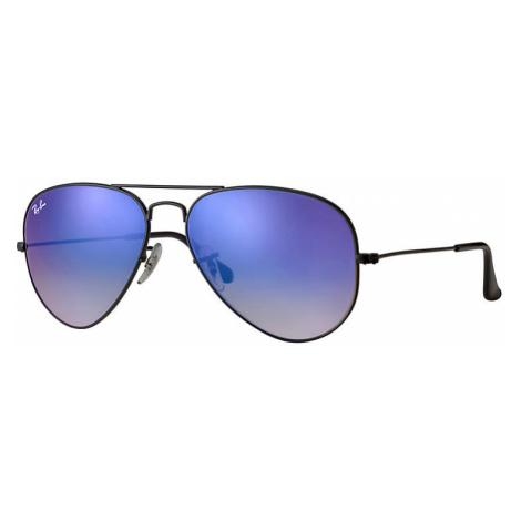 Ray-Ban Aviator flash lenses gradient Unisex Sunglasses Lenses: Blue, Frame: Black - RB3025 002/