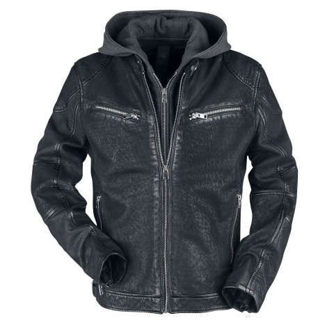 Gipsy Rico Slim Fit Lcountv Leather Jacket black