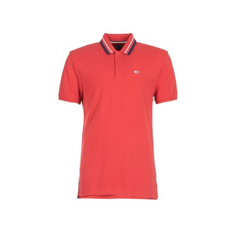 Tommy Jeans TJM TOMMY CLASSICS POLO men's Polo shirt in Red Tommy Hilfiger