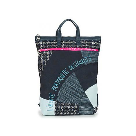 Desigual LIBERTÉ PATCH BAZA women's Backpack in Multicolour