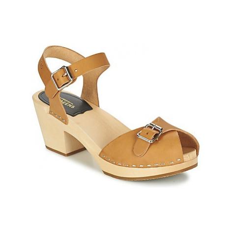 Swedish hasbeens PIA HIGHT women's Sandals in Beige