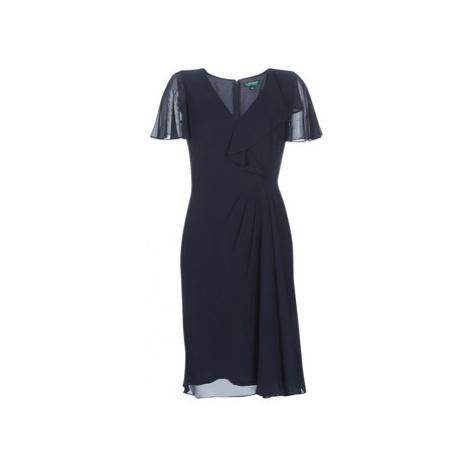 Lauren Ralph Lauren CUTLER CAP SLEEVE DAY DRESS women's Long Dress in Blue
