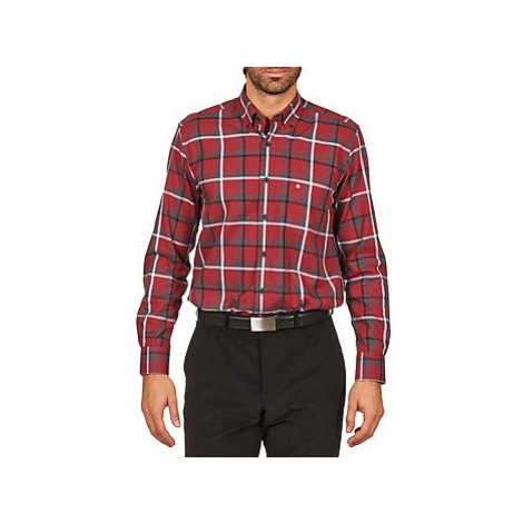 Pierre Cardin FERNAND men's Long sleeved Shirt in Red