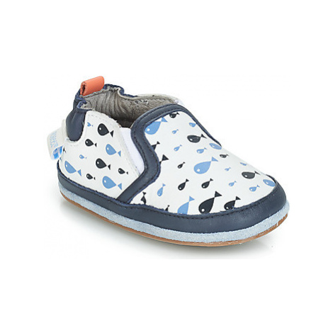 Robeez FISHY BOY boys's Baby Slippers in Blue