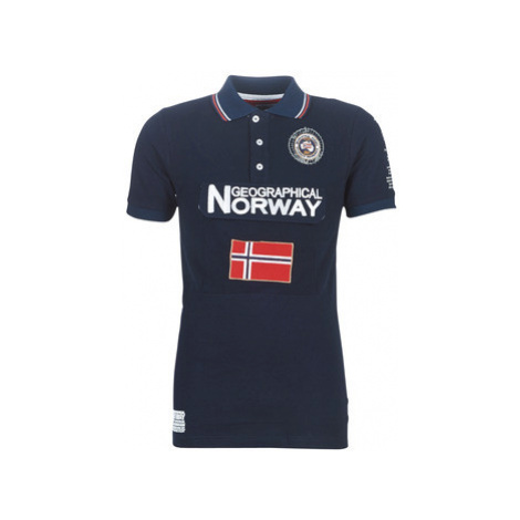 Geographical Norway KAYFOUR SS MEN 100+BS men's Polo shirt in Blue