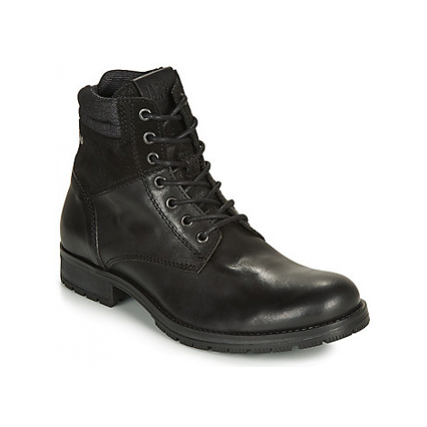 Jack Jones JFW ZACHARY LEATHER men's Mid Boots in Black Jack & Jones