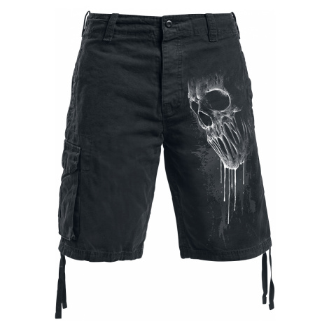Spiral - Bat Curse - Vintage shorts - black
