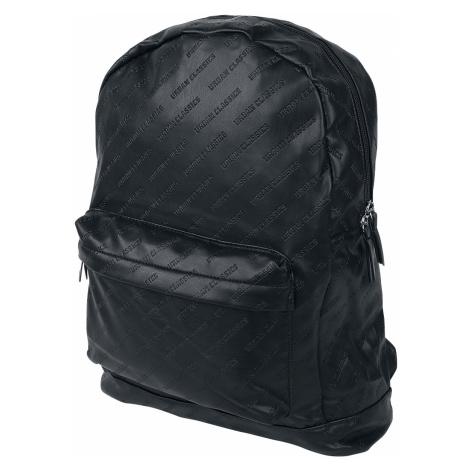 Urban Classics - Imitation Leather Backpack - Backpack - black