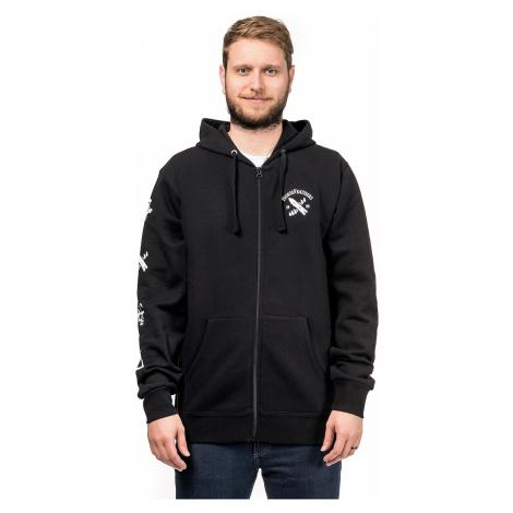 sweatshirt Horsefeathers Skeleton Zip - Black - men´s