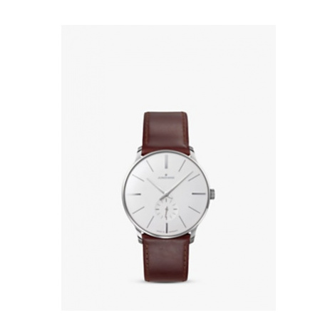 Junghans 027/3200.00 Men's Meister Manual Leather Strap Watch, Brown/Grey