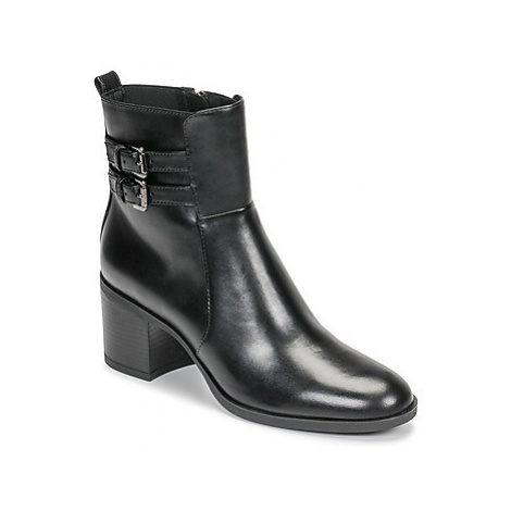 Geox D GLYNNA women's Low Ankle Boots in Black