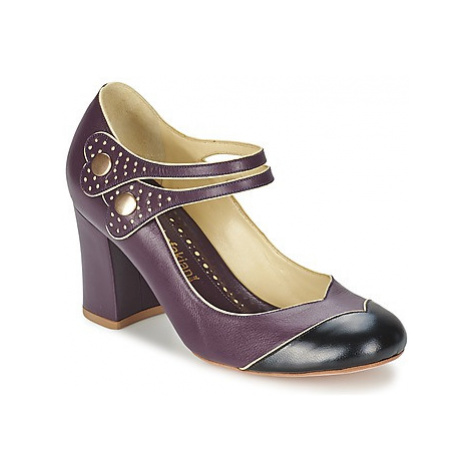 Sarah Chofakian ZUT women's Court Shoes in Purple
