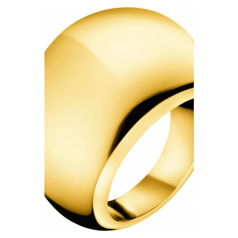 Ladies Calvin Klein PVD Gold plated Size P Closed Ring KJ3QJR100108