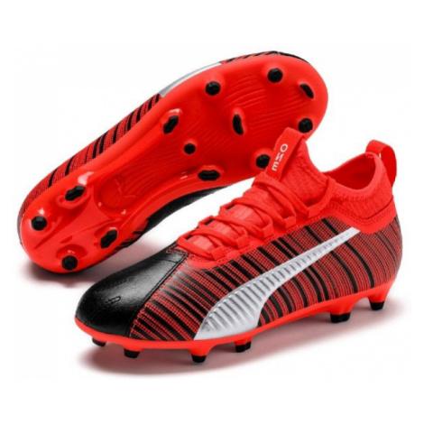 Puma ONE 5.3 FG/AG JR red - Kids' football boots