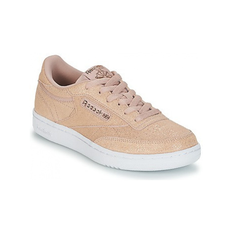 Reebok Classic CLUB C J girls's Children's Shoes (Trainers) in Pink