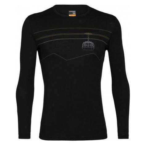 Icebreaker 200 OASIS LS CREWE PEAK TO PEAK LIFT black - Men's functional T-shirt Icebreaker Merino