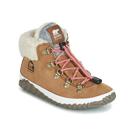 Sorel YOUTH OUT N ABOUT CONQUEST girls's Children's Mid Boots in Brown