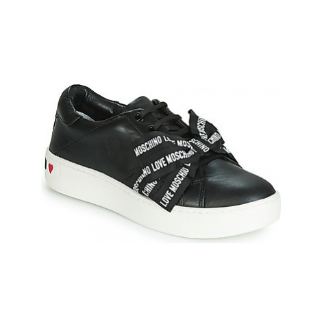 Love Moschino LOVE MOSCHINO BOW women's Shoes (Trainers) in Black