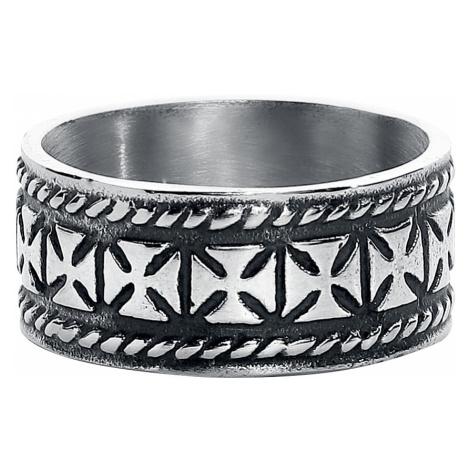 EtNox - Iron Crosses - Ring - silver-coloured