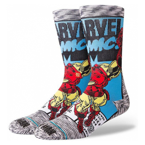 socks Stance Iron Man Comic - Gray