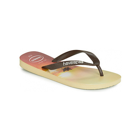 Havaianas HYPE men's Flip flops / Sandals (Shoes) in Beige