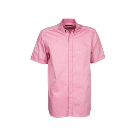 Pierre Cardin 130536209-430 men's Short sleeved Shirt in Pink
