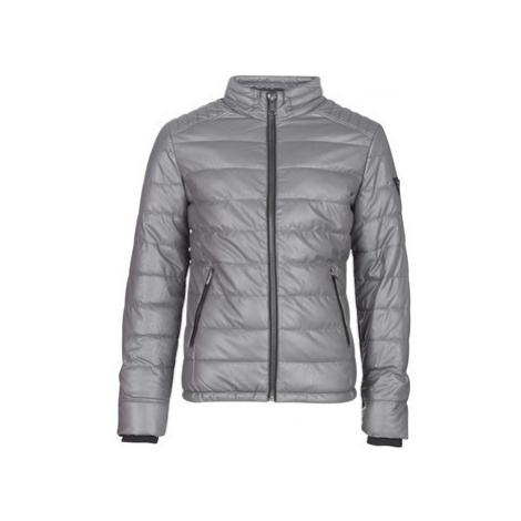 Guess STRETCH PU QUILTED men's Leather jacket in Grey