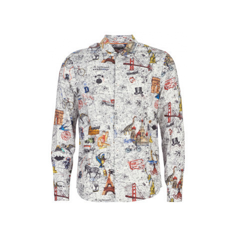 Desigual ZACARIAS men's Long sleeved Shirt in Multicolour