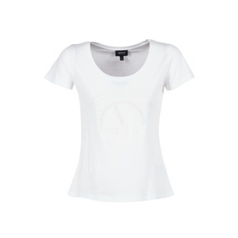Armani jeans LASSERO women's T shirt in White