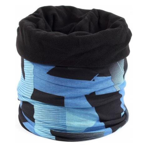 Finmark MULTIFUNCTIONAL SCARF WITH FLEECE blue - Multifunctional scarf with fleece