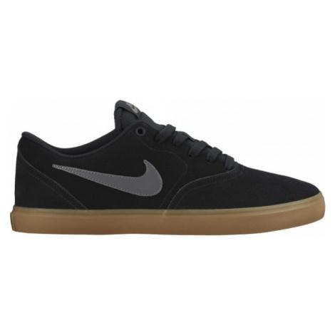 Nike SB CHECK SOLARSOFT black - Men's skateboard shoes