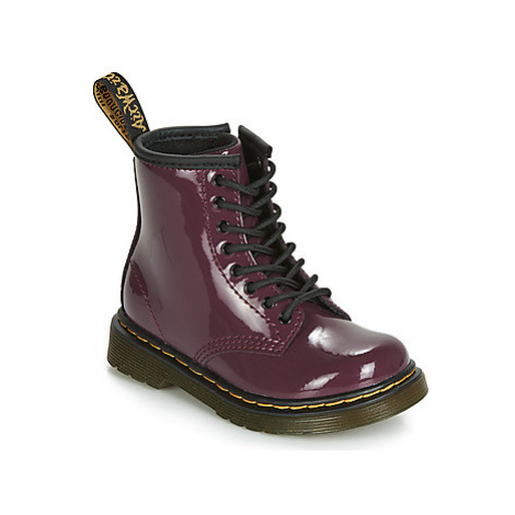 Dr Martens 1460 PATENT TODDLER girls's Children's Mid Boots in Purple