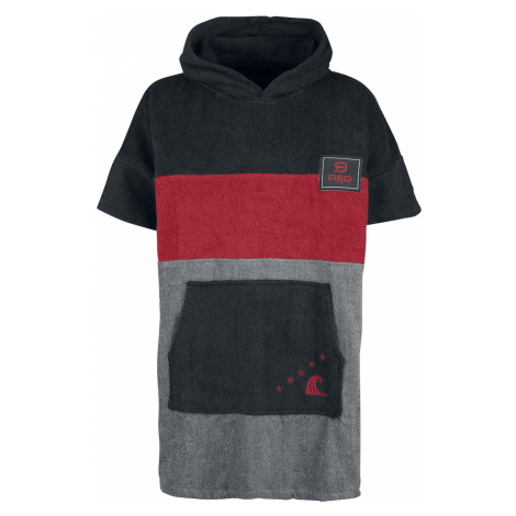 RED by EMP - Catch A Wave - Bathrobe - black-red-grey