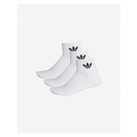 adidas Originals Mid-Cut Crew Socks 3 pcs White